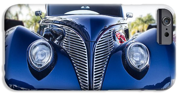 Torn iPhone Cases - Blue Coupe iPhone Case by Guy Shultz