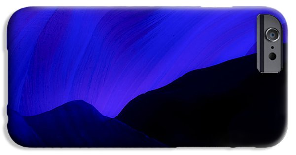 Nation Pyrography iPhone Cases - Blue Day in Antelope Canyon iPhone Case by Robert Rinsem