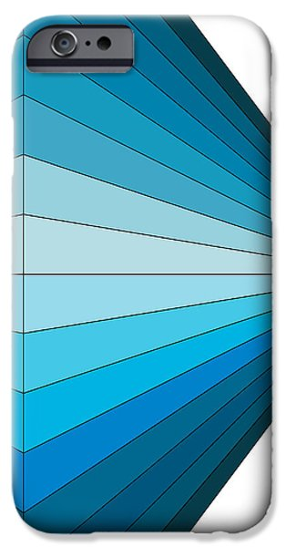 Abstract Digital Drawings iPhone Cases - Blue Diamond iPhone Case by Sandi Hauanio