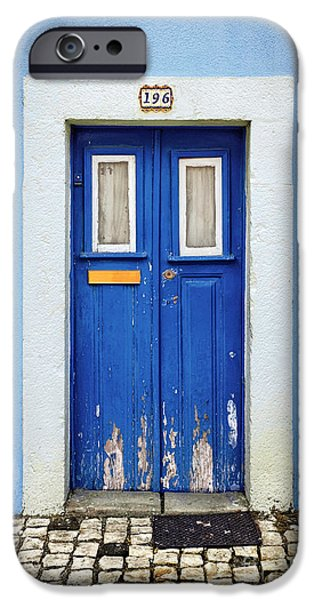 Portuguese iPhone Cases - Blue Door iPhone Case by Carlos Caetano