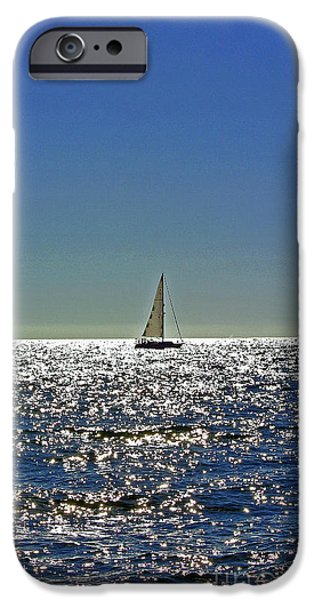 Sailboat Ocean iPhone Cases - Blue Dream iPhone Case by Customikes Fun Photography and Film Aka K Mikael Wallin