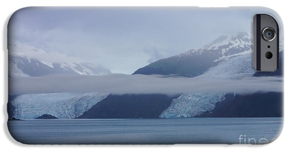 Snow iPhone Cases - Blue Escape in Alaska iPhone Case by Jennifer White