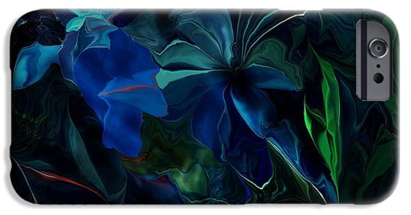 David iPhone Cases - Blue Fantasy 072415 iPhone Case by David Lane