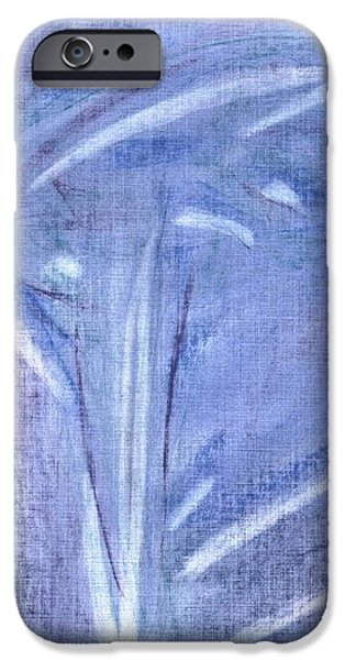 David iPhone Cases - Blue Flower iPhone Case by David Jacobi