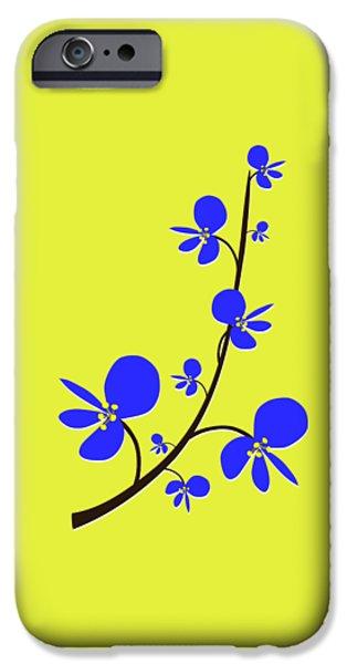 Children iPhone Cases - Blue Flowers iPhone Case by Anastasiya Malakhova