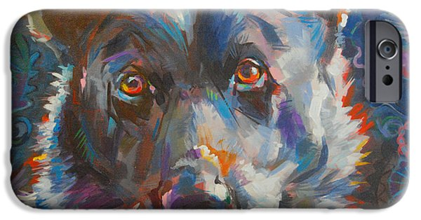 Cattle Dog iPhone Cases - Blue Heeler iPhone Case by Kimberly Santini