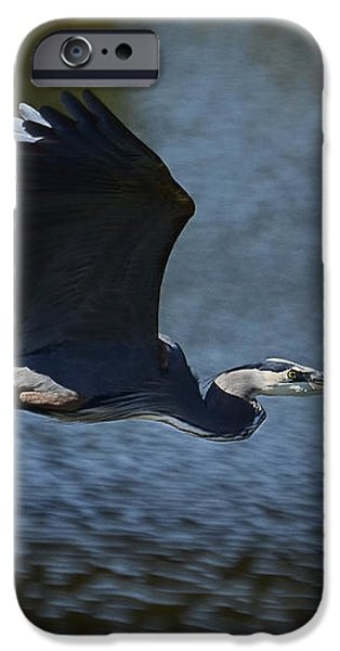 Blue Heron Skies  iPhone Case by Saija  Lehtonen