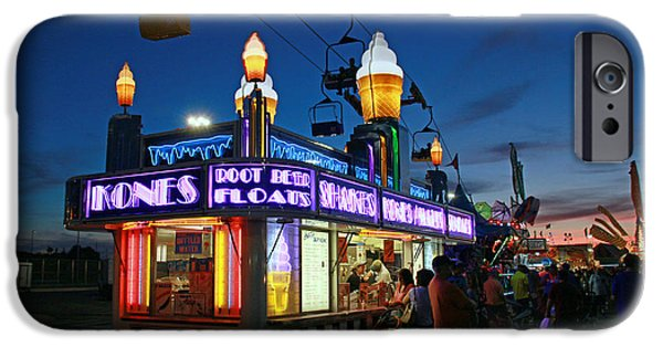 Freedom iPhone Cases - Blue Hour at the State Fair iPhone Case by Allen Beatty