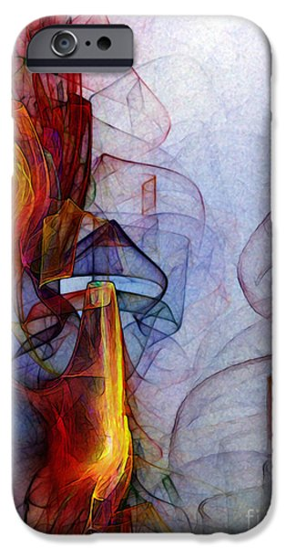 Contemporary Abstract iPhone Cases - Blue Hour iPhone Case by Karin Kuhlmann