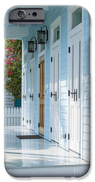 Florida House Photographs iPhone Cases - Blue House iPhone Case by Juli Scalzi