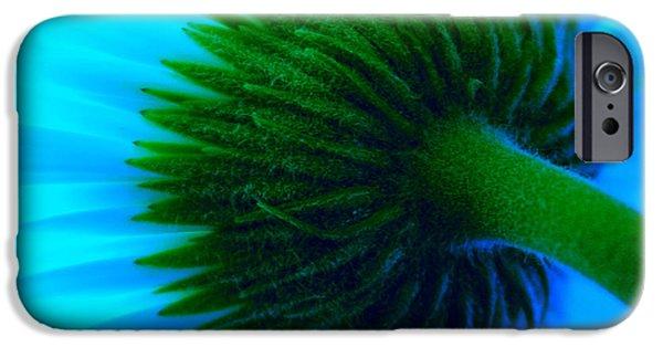 Floral Photographs iPhone Cases - Blue Joy iPhone Case by Krissy Katsimbras