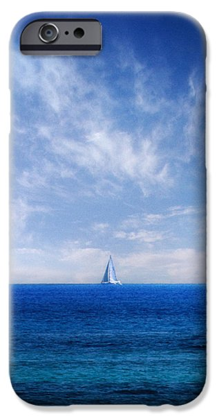 blue mediterranean iPhone Case by Stylianos Kleanthous