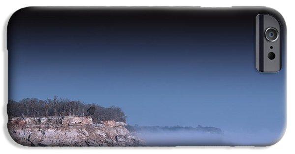 Fog Mist iPhone Cases - Blue Mist iPhone Case by Dennis Wells