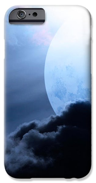 Blue Moon - 7D12372 iPhone Case by Wingsdomain Art and Photography