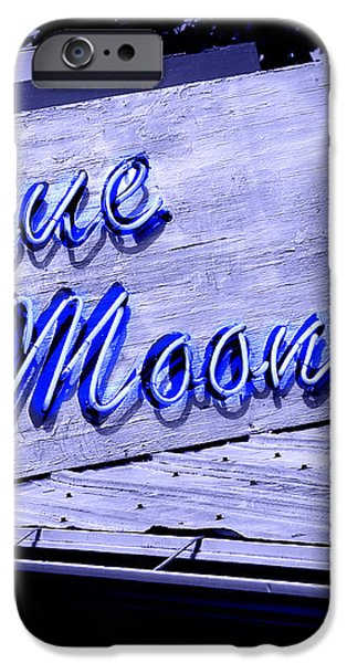 Blue Moon iPhone Case by Perry Webster