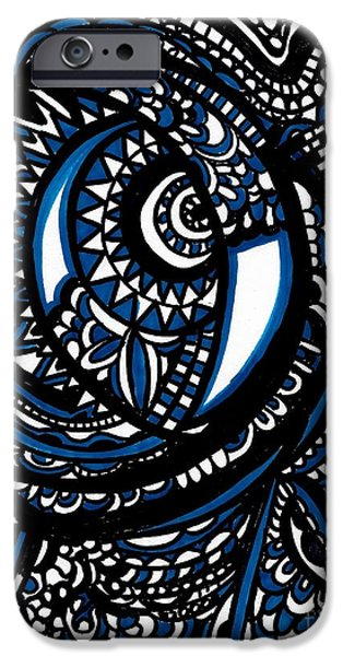 Blue Moon iPhone Case by WBK