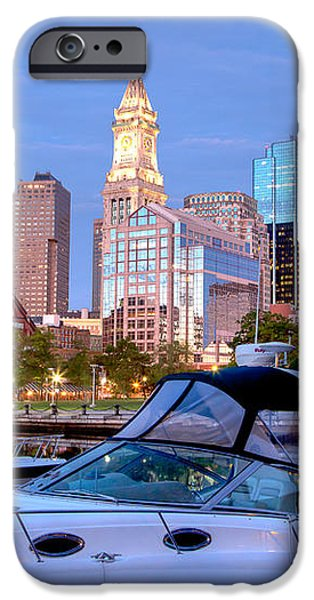 Blue Morning on Boston Harbor iPhone Case by Susan Cole Kelly