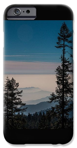 Interior Scene iPhone Cases - Blue Mountains iPhone Case by Patti Deters