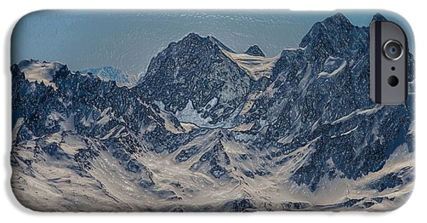 Snowy Night iPhone Cases - Blue Mountains iPhone Case by Scott Mendell