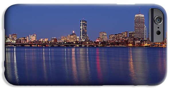 Charles River iPhone Cases - Blue Night iPhone Case by Juergen Roth