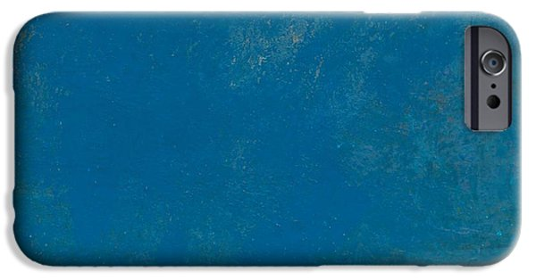 Self-discovery iPhone Cases - Blue No1 - There is a silence inside the silence... Abstract True Art iPhone Case by Radu Gavrila