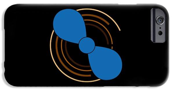Aero iPhone Cases - Blue Propeller iPhone Case by Frank Tschakert