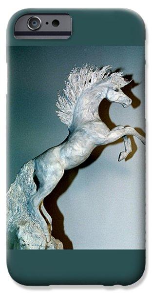 Silver Sculptures iPhone Cases - Blue Quartz iPhone Case by Caroline Czelatko