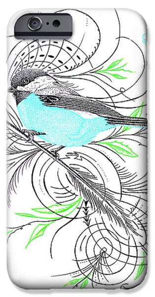 Google Mixed Media iPhone Cases - Blue Robin iPhone Case by Dwayne  Hamilton