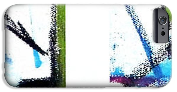 Blue Abstracts iPhone Cases - Blue Series 2 of 3 iPhone Case by Jera Sky