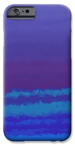 Abstract Digital Tapestries - Textiles iPhone Cases - Blue Shades iPhone Case by Suzi Freeman