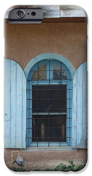 Blue Shutters iPhone Case by Jerry McElroy
