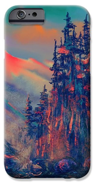 Snow iPhone Cases - Blue Silence iPhone Case by Vit Nasonov