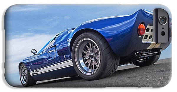 Automotive iPhone Cases - Blue Sky Day - Ford GT 40 iPhone Case by Gill Billington