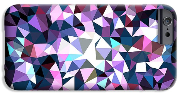 Concept Tapestries - Textiles iPhone Cases - Blue splashes iPhone Case by Alex Zel