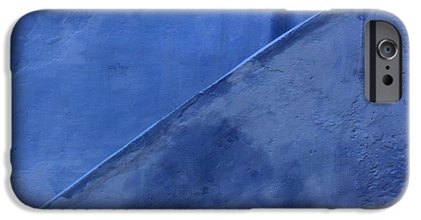 Rabat Photographs iPhone Cases - Blue Stairs in Profile iPhone Case by Ramona Johnston