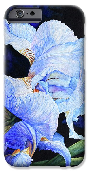 Blue Summer Iris iPhone Case by Hanne Lore Koehler