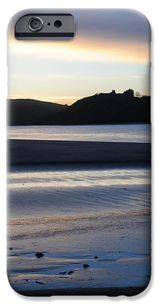 Sand Castles iPhone Cases - Blue sunset over the castle iPhone Case by Ken Day