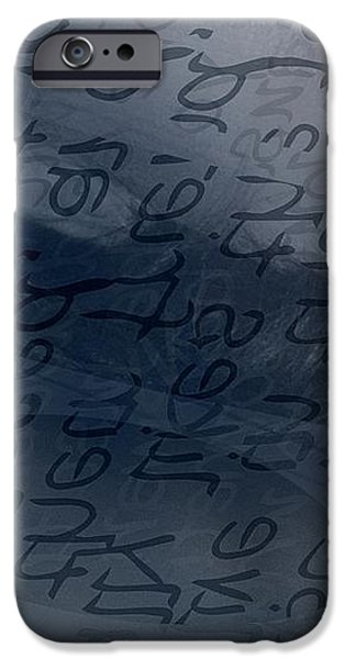 Blue Talk iPhone Case by Vicki Ferrari