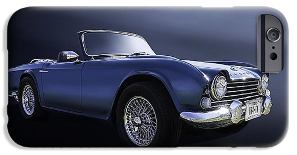 Convertible iPhone Cases - Blue TR4 iPhone Case by Douglas Pittman