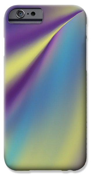 Abstract Digital Tapestries - Textiles iPhone Cases - Blue Trail iPhone Case by Suzi Freeman