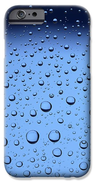 Bubbly iPhone Cases - Blue Water Bubbles iPhone Case by Frank Tschakert