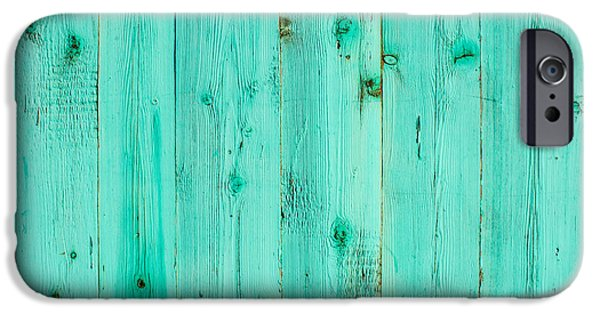 Design iPhone Cases - Blue Wooden Planks iPhone Case by John Williams