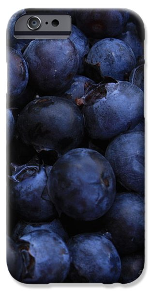 Blueberries Close-Up - Vertical iPhone Case by Carol Groenen