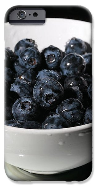 blueberries iPhone Case by Michael Ledray