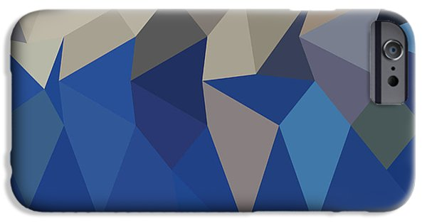 Mosaic iPhone Cases - Bluebonnet Abstract Low Polygon Background iPhone Case by Aloysius Patrimonio