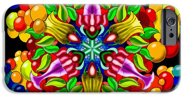 Colorful Abstract iPhone Cases - Bluebubbleflower iPhone Case by ThomasE Jensen