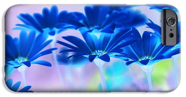 Abstract Digital Art iPhone Cases - Bluemination iPhone Case by Robin Webster