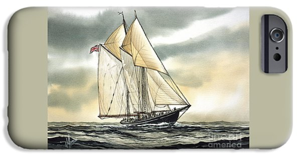 Tall Ship iPhone Cases - Bluenose  iPhone Case by James Williamson