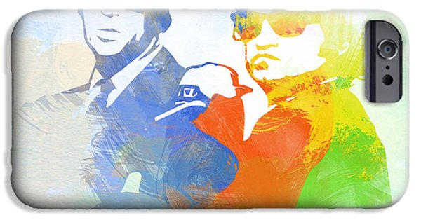 Blue Digital iPhone Cases - Blues Brothers iPhone Case by Naxart Studio