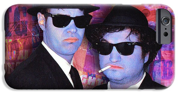 The Blue Face iPhone Cases - Blues Brothers Red iPhone Case by Tony Rubino